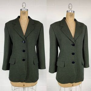 Vintage 1980's MISSONI Iconic Wave Pattern Blazer